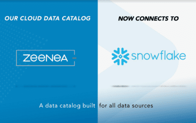 Zeenea Data Catalog now connects to Snowflake!